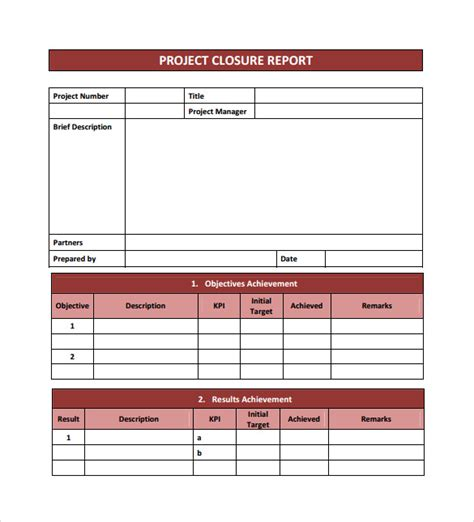 project financial analysis template project closure template 9 free documents in