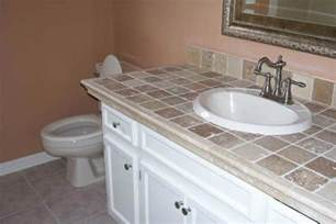 Tile Bathroom Countertop Ideas by Bathroom Countertops Liberty Home Solutions Llc