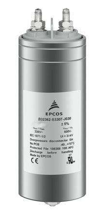 epcos polypropylene capacitors b32362a4157j080 epcos 150μf polypropylene capacitor pp 680v ac 177 5 tolerance b32362 series epcos