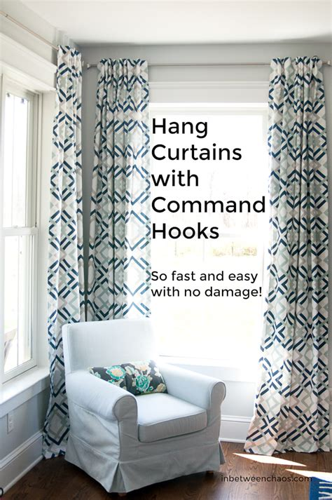 command strips to hang curtains in between chaos adventures in trying