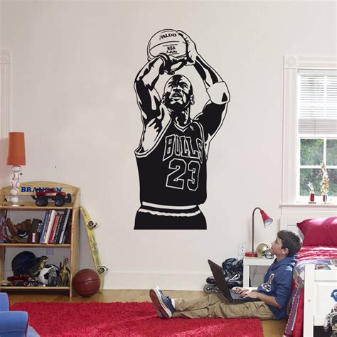 michael jordan bedroom decor aliexpress com buy 2016 new design michael jordan wall