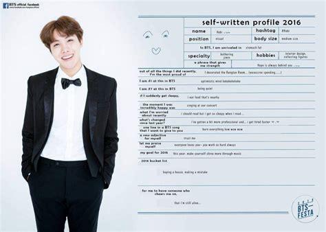 bts personil bts festa 2016 self written profiles k pop amino