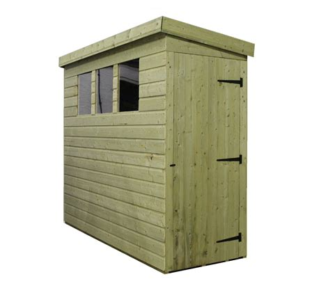 Shed With Side Door 8 X 3 Pressure Treated Tongue And Groove Pent Shed With 3