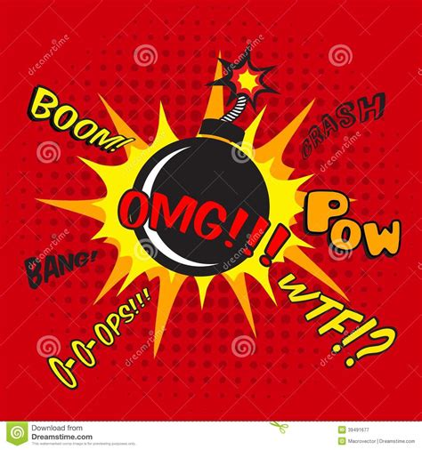 comic bomb explosion poster stock vector image 39491677