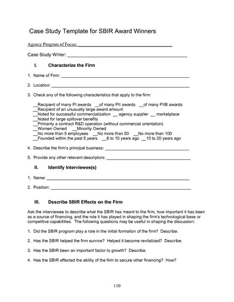 templates for studies 4 study template an assessment of the small