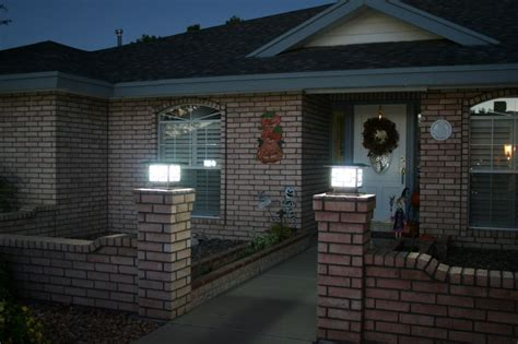 solar powered fence lights high output bright solar powered fence pillar light