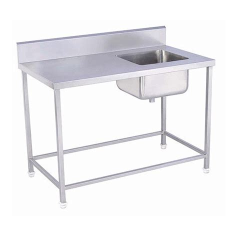 stainless steel food prep table with sink food preparation table sink in low of cost machinery point