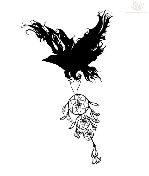 raven tattoo design images designs