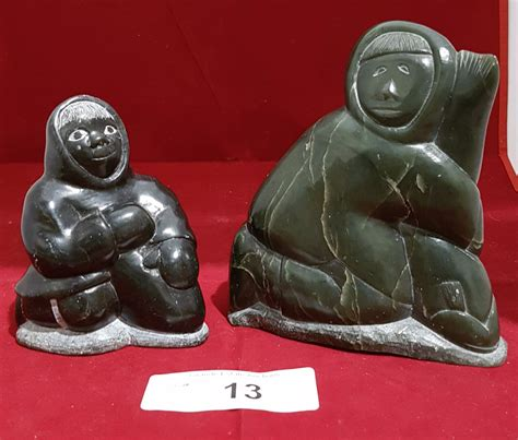 inuit soapstone carvings value two inuit soapstone carvings