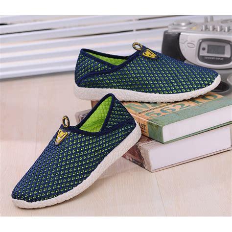 Sepatu Mesh sepatu slip on mesh pria size 44 green blue