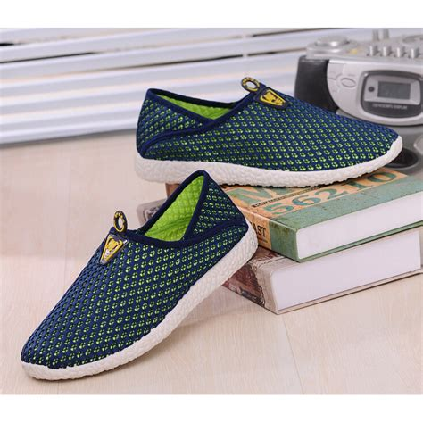 Arion Slip Ons Blue Sepatu Wanita Slip On Flat Shoes sepatu slip on mesh pria size 44 green blue jakartanotebook