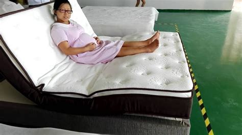 rotating bed with remote control bed design furniture sponge foldable mattress with wireless remote
