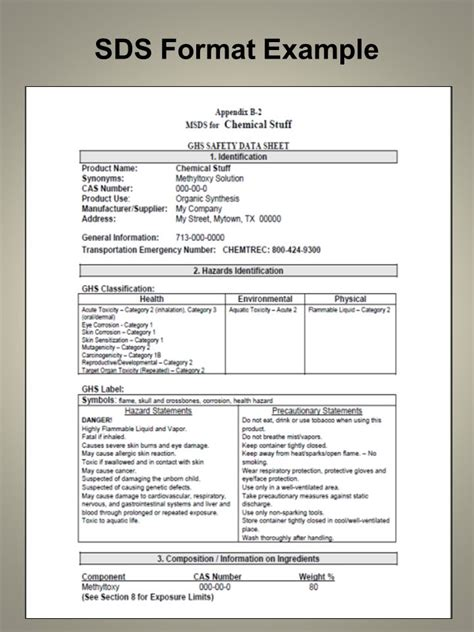 ghs sds template ghs sds template 28 images ghs sds template template