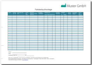 Kfz Versicherung K Ndigen Zum 30 11 Muster by Fahrtenbuch Vorlage Kostenlos Als Excel Pdf