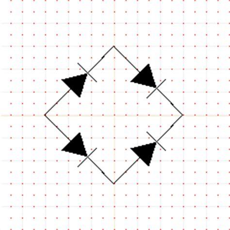 diode bridge rectifier symbol step 4