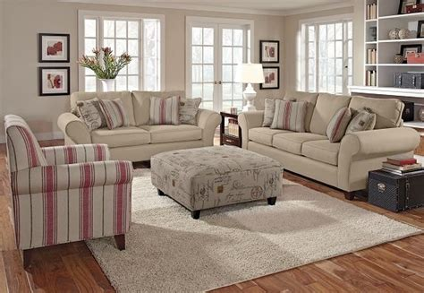 palmer collection   beautiful neutral living room set       types