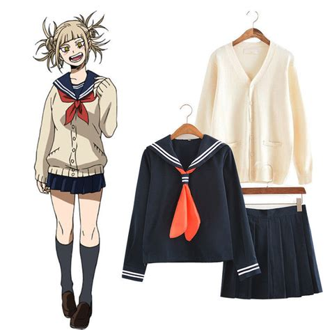 hero academia himiko toga cosplay jk uniform sweater