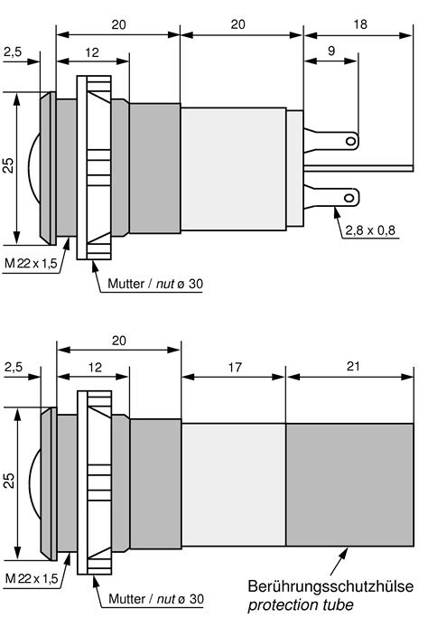 preiswerte led len led signalleuchte kunststoffreflektor schutzh 252 lse