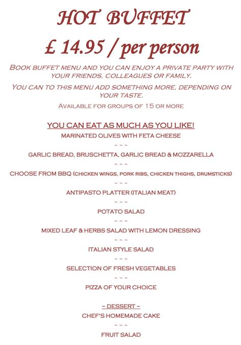 buffet menu next