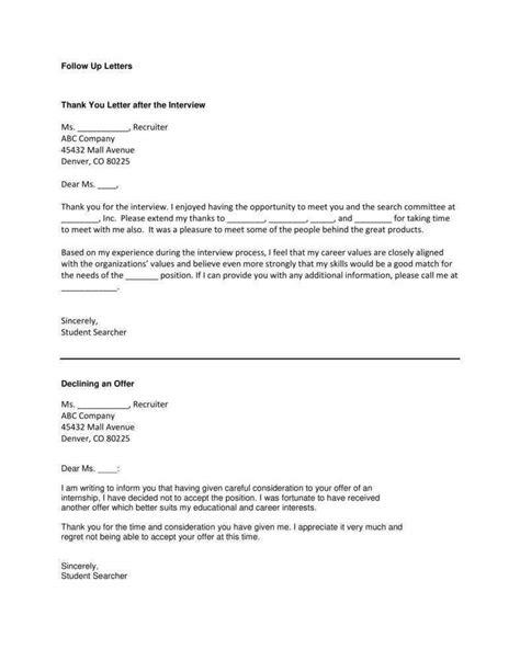 business follow letter premium templates