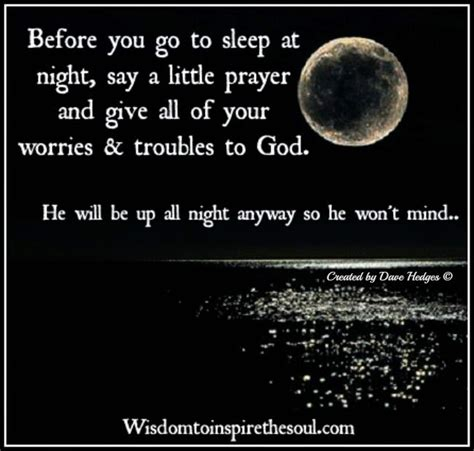 prayer before you go to bed wisdom to inspire the soul before you go to sleep at night