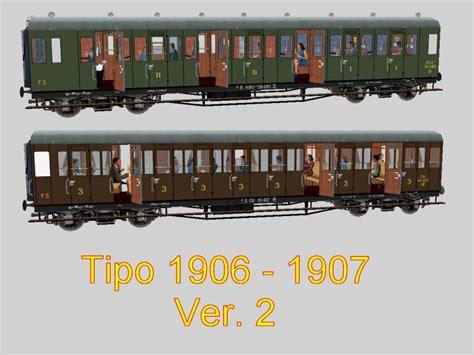 tipi di carrozze carrozze tipi 1906 e 1907 trainsimhobby