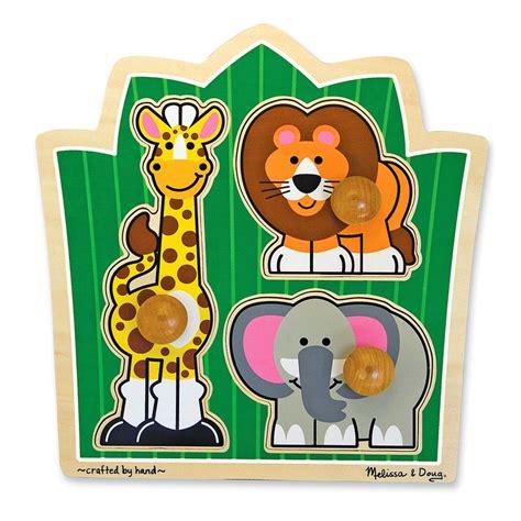 Puzzle Knob Number Type A jungle friends jumbo knob puzzle children s puzzles