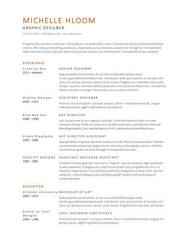 Simple Professional Resume Template by Amazing Professional Resume Template