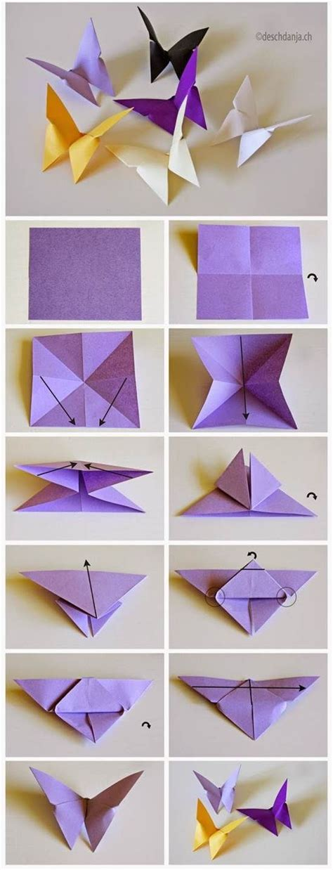 How To Make 3d Origami Butterfly - 25 best ideas about origami on easy