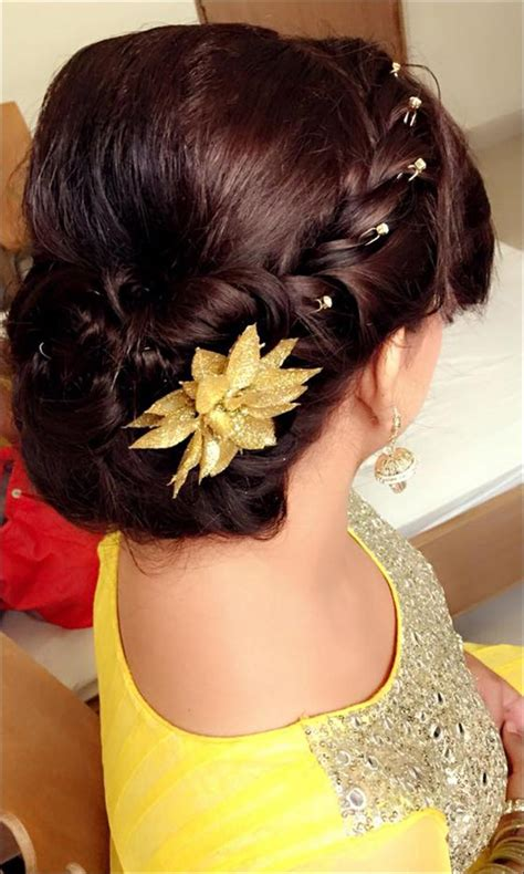 Indian Wedding Bun Hairstyles With Flowers by Bridal Hairstyles 38 Gorgeous Looks For This Wedding Season