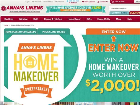 Makeover Sweepstakes - anna s linens home makeover sweepstakes
