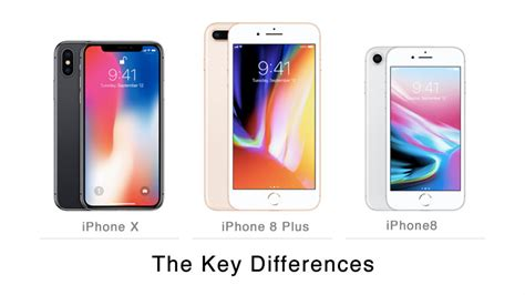 key differences between iphone x iphone 8 plus and iphone 8 iphoneheat