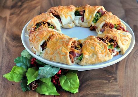 crescent roll christmas crescent wreath recipe