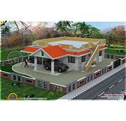 Single Floor 2 Bedroom House Elevation  Kerala Home