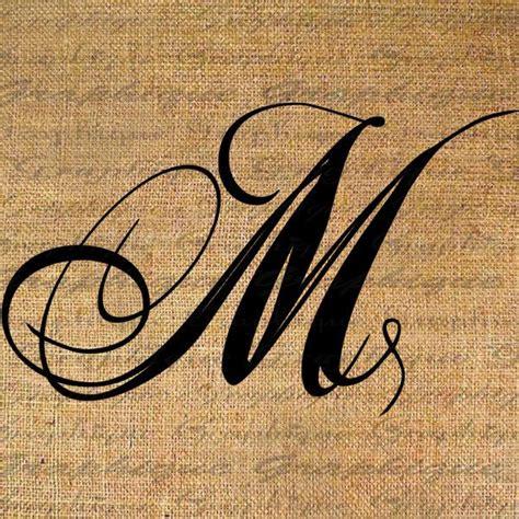 monogram initial letter m