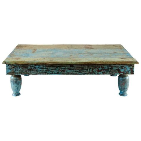 rustic turquoise coffee table country charm