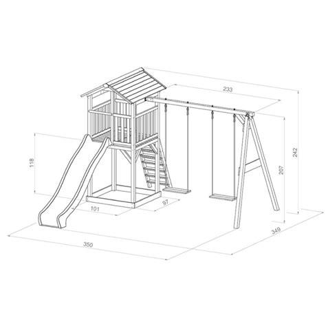 kinder spielturm beachstyle beach tower double swing