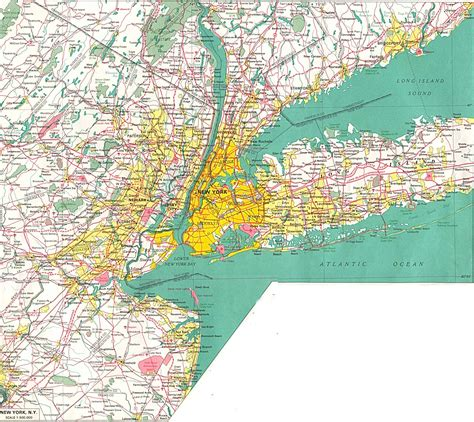 road map nyc large detailed road map of new york city and its environs