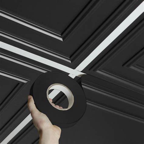 self adhesive ceiling tiles ceilume deco black self adhesive decorative grid