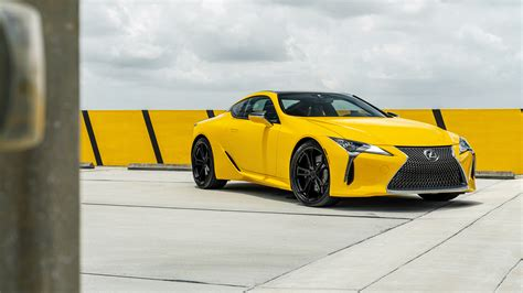 lexus yellow lexus lc 500 yellow 4k 8k wallpaper hd car wallpapers