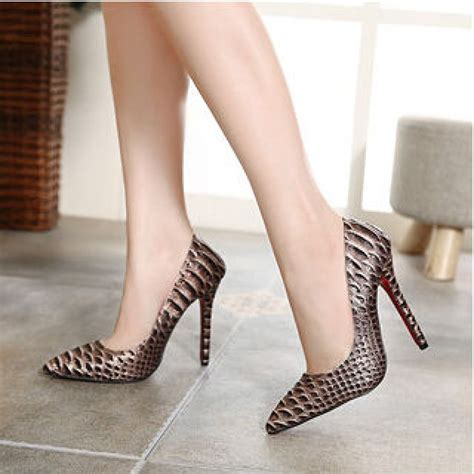 snakeskin high heel boots maroon snakeskin high heel court shoes