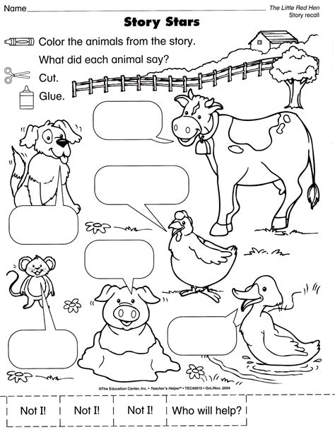 printable animal stories search results for the little red hen sequencing