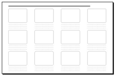 12 frame storyboard 17 x 11 in storyboard template pdf