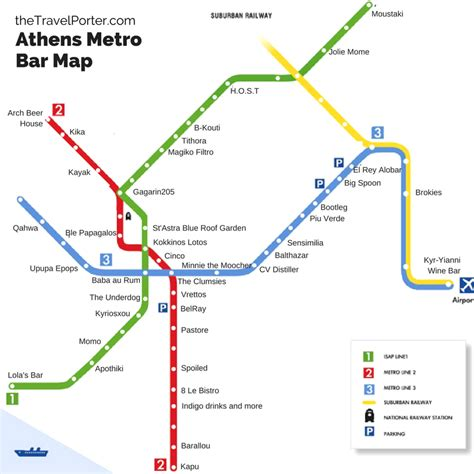 English Home Interiors by The Ultimate Bar Crawl Athens First Ever Metro Bar Map