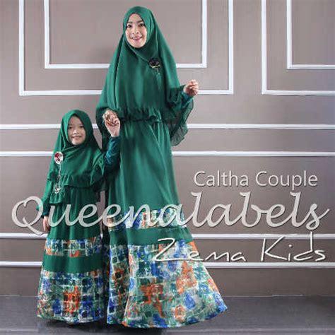 Baju Muslim Syar I Ibu Dan Anak caltha 3 hijau baju muslim gamis modern
