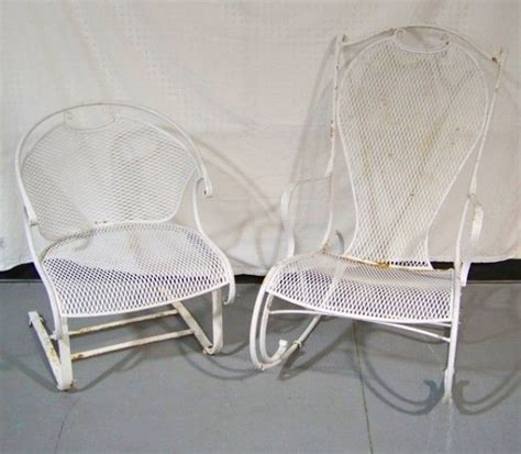 Patio Chairs That Bounce These Are Vintage Woodard Rocking Chair Side