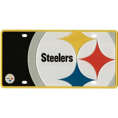 steeler colors pittsburgh steelers color mega inlay license plate