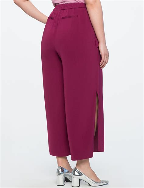 Side Slit Cropped side slit cropped pant s plus size eloquii