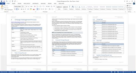 change management process document template change management plan ms word excel templates