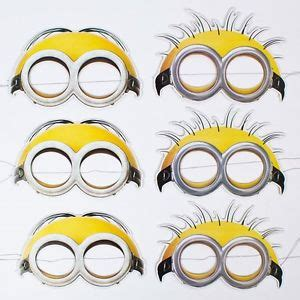 minions despicable me paper face mask pack of 6 birthday